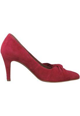 Tamaris 1-22457-20 515 Damen Lipstick Rot Leder Pumps – Bild 2