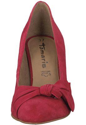 Tamaris 1-22457-20 515 Damen Lipstick Rot Leder Pumps – Bild 6