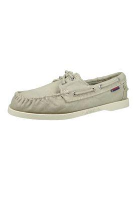 Sebago Damen Schuhe B500206 Docksides Beige Canvas – Bild 1