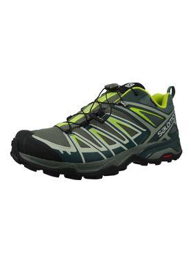 Salomon Schuhe X Ultra 3 GTX Laufschuhe Trail Hiking 401666 Grau Castor Grey Darkest Spruce acid Lime – Bild 1