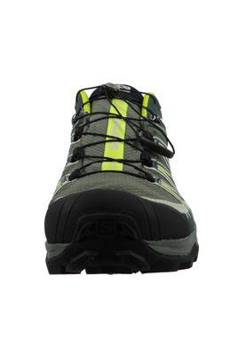 Salomon Schuhe X Ultra 3 GTX Laufschuhe Trail Hiking 401666 Grau Castor Grey Darkest Spruce acid Lime – Bild 5