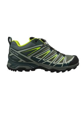 Salomon Schuhe X Ultra 3 GTX Laufschuhe Trail Hiking 401666 Grau Castor Grey Darkest Spruce acid Lime – Bild 6