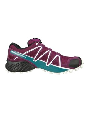 Salomon Schuhe Speedcross 4 401361 Laufschuhe Trail Lila Dark Purple White Deep Lake – Bild 4