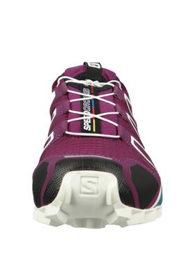 Salomon Schuhe Speedcross 4 401361 Laufschuhe Trail Lila Dark Purple White Deep Lake – Bild 5