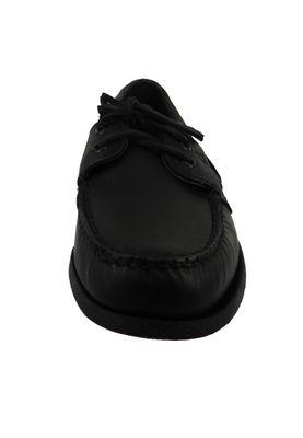 Sperry Herren Bootsschuhe 0836981 A/O 2 Eye Black Schwarz Leder – Bild 3
