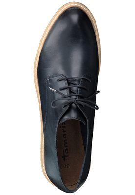 Tamaris 1-23202-20 848 Damen Navy Leather Blau Leder Schnürschuhe mit TOUCH-IT Sohle – Bild 5