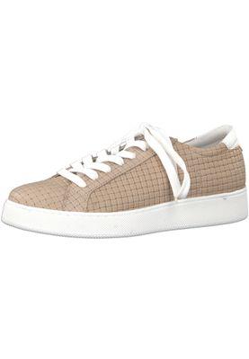 Tamaris 1-23637-20 355 Damen Sand Beige Leder Sneaker – Bild 1