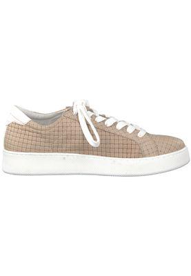 Tamaris 1-23637-20 355 Damen Sand Beige Leder Sneaker – Bild 2