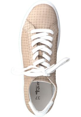 Tamaris 1-23637-20 355 Women's Sand Beige Leather Sneaker – Bild 5