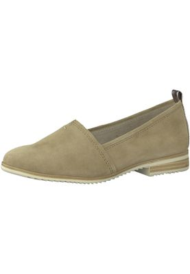 Tamaris 1-24205-20 334 Damen Antelope Suede Beige Leder Slipper mit TOUCH-IT Sohle – Bild 1
