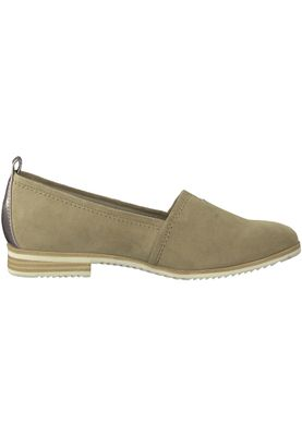 Tamaris 1-24205-20 334 Damen Antelope Suede Beige Leder Slipper mit TOUCH-IT Sohle – Bild 2