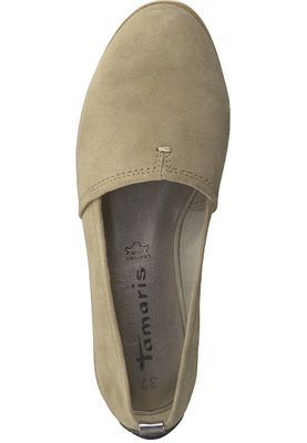Tamaris 1-24205-20 334 Damen Antelope Suede Beige Leder Slipper mit TOUCH-IT Sohle – Bild 5