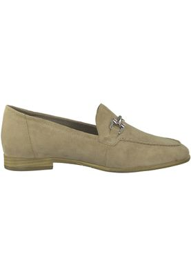 Tamaris 1-24421-20 334 Damen Antelope Suede Beige Leder Slipper mit TOUCH-IT Sohle – Bild 2