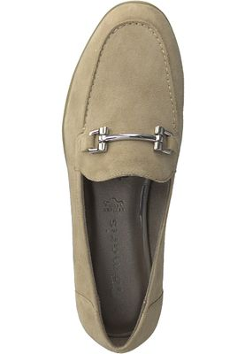 Tamaris 1-24421-20 334 Damen Antelope Suede Beige Leder Slipper mit TOUCH-IT Sohle – Bild 5