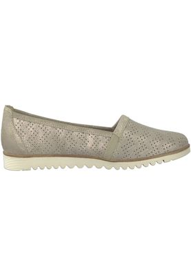 Tamaris 1-24613-20 405 Damen Beige Metallic Leder Slipper mit TOUCH-IT Sohle – Bild 2