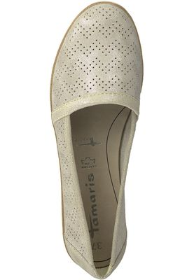 Tamaris 1-24613-20 405 Damen Beige Metallic Leder Slipper mit TOUCH-IT Sohle – Bild 5
