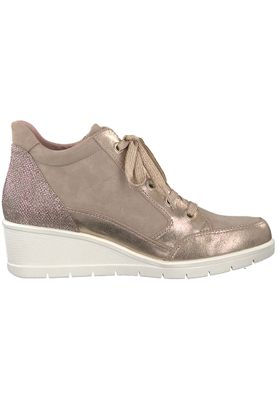 Tamaris 1-25233-20 424 Damen Shell Comb Rosa Wedge Sneaker mit TOUCH-IT Sohle – Bild 2
