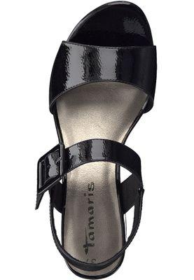 Tamaris 1-28211-20 018 Damen Black Patent Schwarz Sandalen Heeled Sandals – Bild 5
