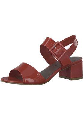 Tamaris 1-28211-20 520 Damen Chili Patent Rot Sandalen Heeled Sandals – Bild 1