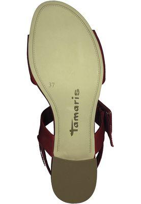 Tamaris 1-28211-20 520 Damen Chili Patent Rot Sandalen Heeled Sandals – Bild 4