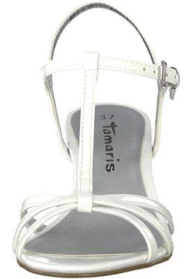 Tamaris 1-28329-20 123 Damen White Patent Weiß Sandaletten Heeled Sandals – Bild 6