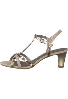 Tamaris 1-28329-20 573 Damen Rose Metallic Glamour Rosa Gold Sandaletten Heeled Sandals – Bild 3