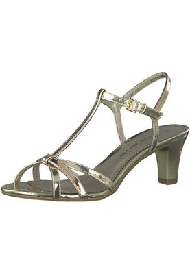 Tamaris 1-28329-20 993 Damen Gold Copper Sandaletten Heeled Sandals – Bild 1