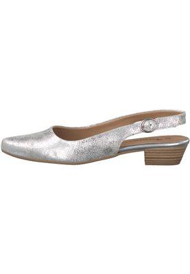 Tamaris 1-29400-20 933 Damen Silver Metallic Silber Mary Jane Sling Pumps – Bild 3