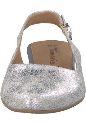 Tamaris 1-29400-20 933 Damen Silver Metallic Silber Mary Jane Sling Pumps – Bild 6