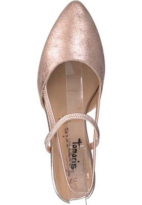 Tamaris 1-29408-20 952 Damen Rose Metallic Rosa Mary Jane Sling Pumps – Bild 5