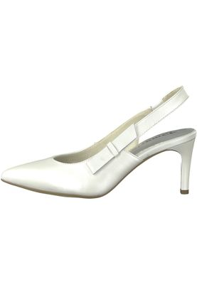 Tamaris 1-29608-20 100 Damen White Weiß Mary Jane Sling Pumps mit TOUCH-IT Sohle – Bild 3