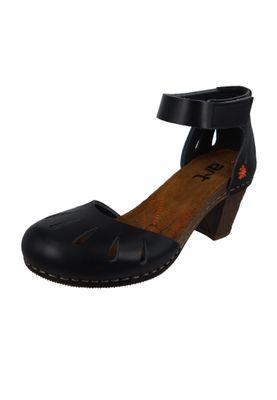 Art 0144 Damen Knöchelriemchen Sandale Sandalette I Meet Black Schwarz  Strappy Heeled Sandal – Bild 1