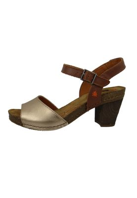 Art 1270S Damen Knöchelriemchen Sandale Sandalette I Meet Champagne Braun Silber Strappy Heeled Sandal – Bild 2