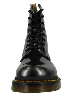 Dr. Martens 1460 Vegan 23922029 Damen Gunmetal Grau Anthrazit Chrome Paint Metallic 8-Loch – Bild 2
