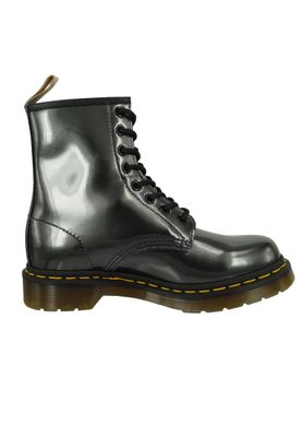 Dr. Martens 1460 Vegan 23922029 Damen Gunmetal Grau Anthrazit Chrome Paint Metallic 8-Loch – Bild 6