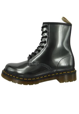 Dr. Martens 1460 Vegan 23922029 Damen Gunmetal Grau Anthrazit Chrome Paint Metallic 8-Loch – Bild 4