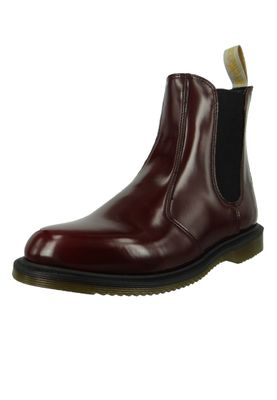 Dr. Martens Vegan Flora 24178600 Damen Cherry Red Cambridge Brush Weinrot Chelsea Boot – Bild 2