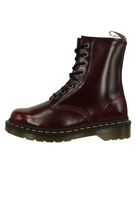 Dr. Martens 1460 Vegan 23756600 Cherry Red Cambridge Brush Weinrot Rot 8-Loch – Bild 2