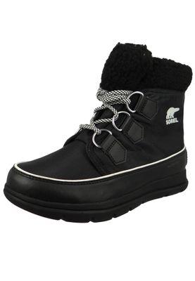 Sorel Explorer Carnival NL3040-010 Women's Winter Boot Boot Lined Black Sea Salt Black – Bild 1