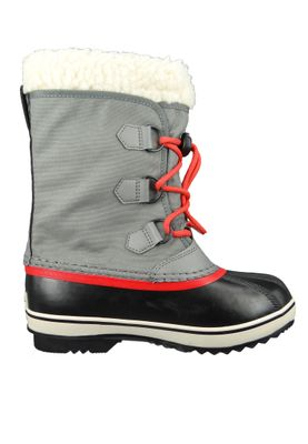 Sorel Yoot Pac Nylon NY1879-053 Kinder Winterstiefel Gefüttert Quarry Sail Red Grau – Bild 4