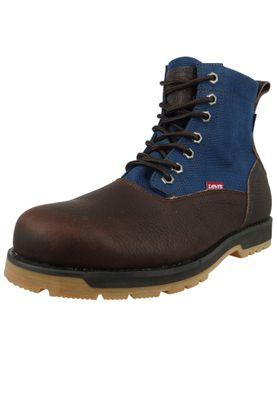 Levis Logan Ca 228752-933-29 Herren Walking Boots Stiefelette Dark Brown Dunkelbraun Blau – Bild 1