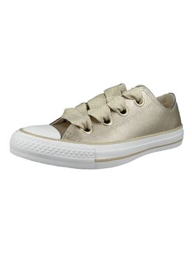 Converse Chucks Gold 561696C Chuck Taylor All Star Big Eyelets OX Metallic Gold – Bild 1