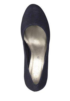 Tamaris 1-22407-21 864 Damen Blau Navy Glam Plateau Pumps High-Heel – Bild 5