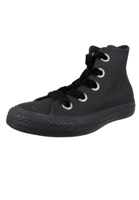 Converse Chucks Black 561686C Chuck Taylor All Star Big Eyelets HI Almost Black Gold – Bild 1