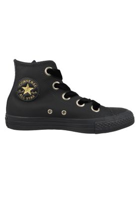 Converse Chucks Black 561686C Chuck Taylor All Star Big Eyelets HI Almost Black Gold – Bild 5