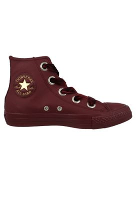 Converse Chucks Weinrot 561687C Chuck Taylor All Star Big Eyelets HI Dark Burgundy – Bild 5