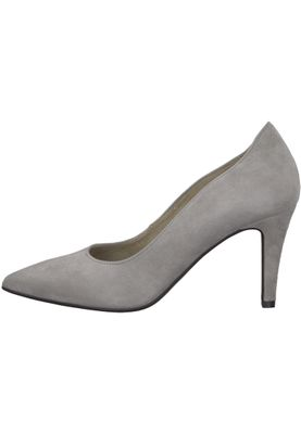 Tamaris 1-22434-21 254 Damen Light Grey Grau Leder Pumps – Bild 3