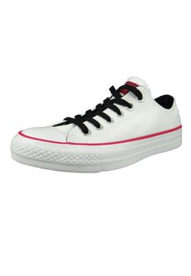 Converse Chucks 161424C Weiss Chuck Taylor All Star OX White Pink Pop White – Bild 1