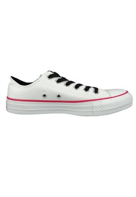 Converse Chucks 161424C White Chuck Taylor All Star White OX Pink Pop White – Bild 5