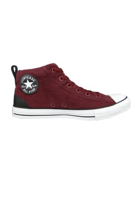 Converse Chucks 161467C Weinrot CHUCK TAYLOR ALL STAR Street Mid Dark Burgundy Black White – Bild 5
